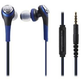 カナル型イヤホン SOLID BASS(ブルー)ATH-CKS550i BL SOLID BASS(iPod/iPhone/iPad用)[マイク付]