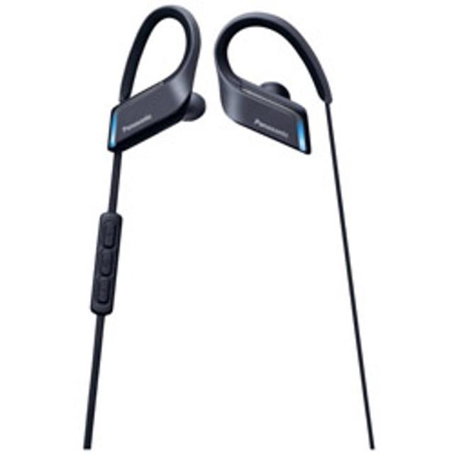 ブルートゥースイヤホン 耳かけカナル型 RP-BTS55 K ブラック [防滴&ネックバンド /Bluetooth]