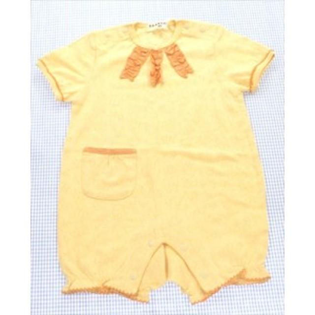 7b7c50a1b5bc8 ブランシェス BRANSHES ロンパース カバーオール 半袖 80cm 新品 サンプル 黄色系 女の子 子供服 キッズ ベビー