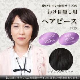 人毛100% わけ目隠し用の小型ヘアピース レミーヘアータイプ ナチュラルブラッ