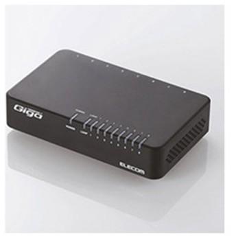 スイッチングハブ(8ポート・Gigabit対応・ACアダプタ) エコ省電力タイプ (ブラック) EHC-G08PA-B-K