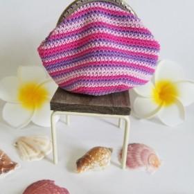 ぐるぐる編みがま口ポーチ 8