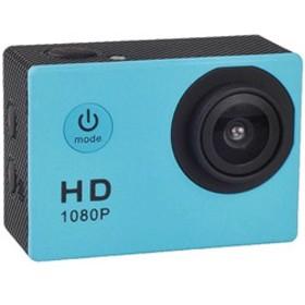 マイクロSD対応 防水ハウジングケース付きアクションカメラ(ブルー) AC150BL