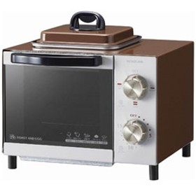 オーブントースター (800W) KOS-0703-T ブラウン