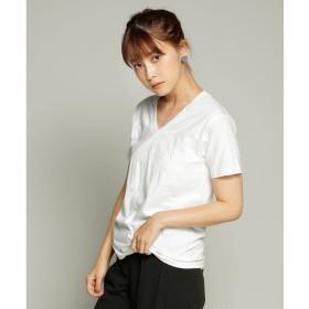 【ピーシーティー P・C・T】ヘインズ Hanes 2P JAPAN Fit ジャパンフィット(2枚組)VネックTシャツ (WHITE)