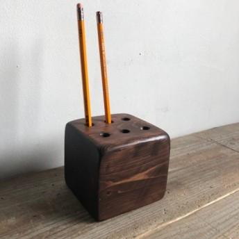 数量限定 WPS-9 ウッドペンスタンド ペン立て ペンスタンド 木製 古材 シャビー アンティーク 文具 文房具 ステ