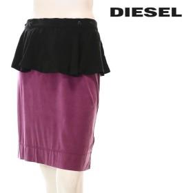 ディーゼル DIESEL スカート レディース 薄手 膝上丈 ペプラム O-RUTH die-l-s-78-252