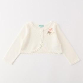 5b80290ad9168  オンワード  TOCCA BAMBINI(トッカ バンビーニ)  BABY CrochetRibbon カーディガン ホワイト