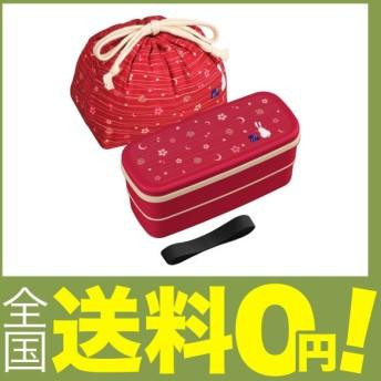 オーエスケー 食洗機対応 月花(No.2) お弁当箱 二段 巾着弁当袋付 PW-28C
