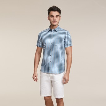 AIGLE メンズ メンズ 吸水速乾 アイリー 半袖シャツ ZCHH515 DARK NAVY CH (002) シャツ・ポロシャツ