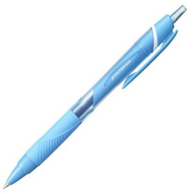三菱鉛筆 ジェットストリーム カラーインク ノック式 油性ボールペン 0.7mm ライトブルーインク SXN-150C-05