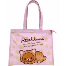 1f8985929329 プールバッグ リラックマ PVCビニールバッグシリーズ レッスンバッグ(ピンク)子供 キッズ 幼稚園 小学校