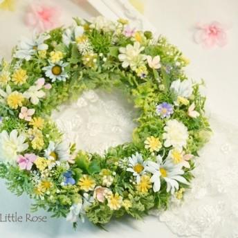 *風の中の野の花*ナチュラルリース*結婚祝い*新築祝い*