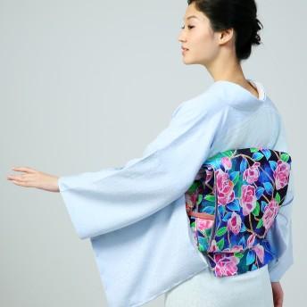 着物 - MINE CUBE ラグジュアリー訪問着 着物+帯 2点セット 仕立て上がり 正絹 空色百合+ピンク花