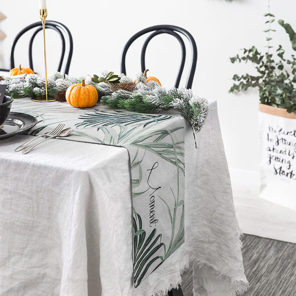 時尚可愛空間餐桌布 茶几布 隔熱墊 鍋墊 杯墊 餐桌巾桌旗 457 (30*160cm)