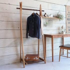 コートハンガー ハンガーラック 木製 折りたたみ ココア 幅71.5cm ( 送料無料 天然木 コートラック 洋服掛け コート収納 北欧 シン