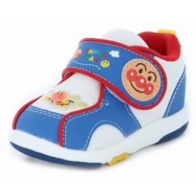 還元祭 アンパンマン 子供靴 ベビーシューズ アンパンマンベビー08 ブルー キャラクター ベビーカジュアルシューズ
