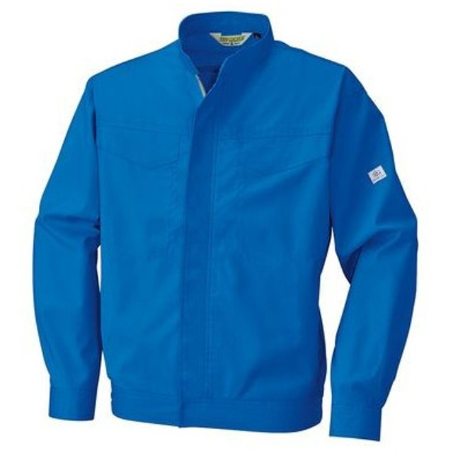 4930269076231 ECO WORLD 6699 ポケットレスジャケット 色:ブルーXシルバーグレー サイズ:L