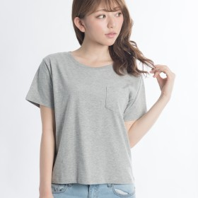 Tシャツ - WEGO【WOMEN】 シルクコットンUネックカットソー BS17SM05-L008