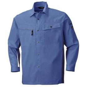 4930269087213 ECO WORLD 6655 ナガソデシヤツ 色:ブルーXブルーグレー サイズ:M