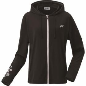 ヨネックス(YONEX) レディース テニス ウィメンズウォームアップパーカー ブラック 57044 007 【テニスウェア バドミントンウェア スポ