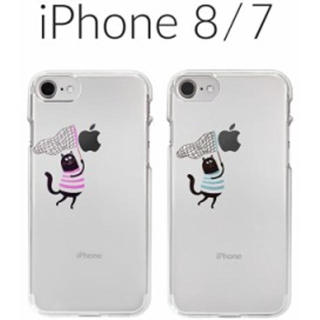 3eadb316e7 iPhone 8 ケース iPhone 7 カバー Dparks ソフトクリアケース 虫取りネコ アイフォン8 アイフォン