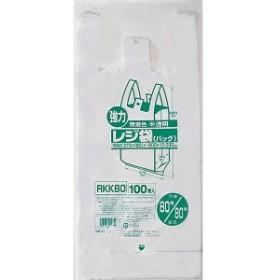ジャパックス レジ袋(半透明) RKK80 80号/80号 0.03×550(370+180)×800mm[500枚入]