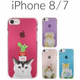 74b372eb53 iPhone 8 ケース iPhone 7 カバー Dparks ソフトクリアケース パステルネコ アイフォン8 アイフォン7