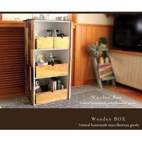 [送料無料]☆小2点セット☆アンティーク風 収納ボックス 木製箱