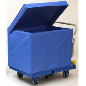 金沢車輌 大型環境静音樹脂台車 屋外用収納ボックス付 NP-307DGS