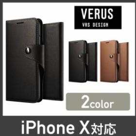 cf568c251b iPhone X ケース 手帳型 VRS DESIGN Daily Diary マグネット 式 ベルト スリム 手帳 レザー アイフォン