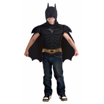 子ども用バットマンマッスルチェストシャツ ハロウィン 仮装 コスチューム 衣装 chara キッズ バットマン ダーク