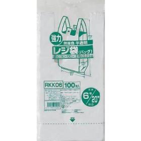 ジャパックス レジ袋(半透明) RKK06 6号/20号 0.012×250(150+100)×310mm[8000枚入]