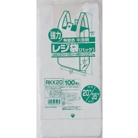 ジャパックス レジ袋(半透明) RKK20 20号/35号 0.017×340(210+130)×460mm[4000枚入]