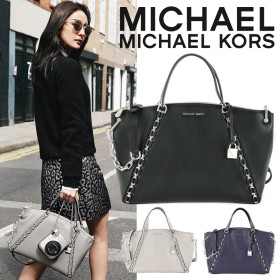 マイケルコース バッグ MICHAEL KORS SADIE LARGE TOP SATCHEL 30F7SAES3L レザー 2WAY ショルダ