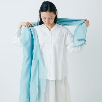 【再入荷】enrica cottonsilk scarf gardenia bleu / botanical dye