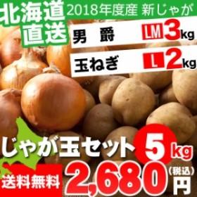 今季出荷開始! 新じゃがいも 送料無料 北海道産 じゃが玉セット 男爵 3kg(LMサイズ)&玉ねぎ2kg(Lサイズ) 合計5kg / 5キロ 5キロ 5