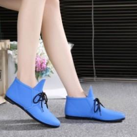 レディース レインシューズ レインブーツ ローカットゴム靴 夏 ショート丈 大人用 雨靴 かわいい学生