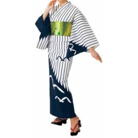 踊り衣裳【反物 大印 本絵羽ゆかた】白×濃紺 取り寄せ商品 「日本の踊り」掲載 踊り絵羽 稽古 習い事 舞踊 民謡