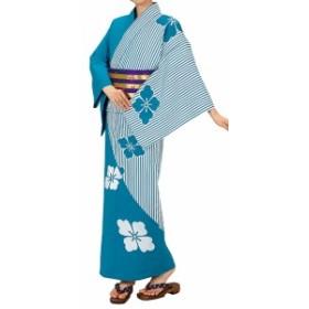 踊り衣裳【反物 大印 本絵羽ゆかた】白×青緑 取り寄せ商品 「日本の踊り」掲載 踊り絵羽 稽古 習い事 舞踊 民謡