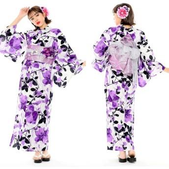 浴衣 - SWEET ANGEL 浴衣8点セット/YS354/薔薇紫 セクシー 華やか 紫
