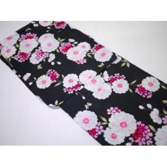 レディース 浴衣 ラメ入り 変わり織り 花柄