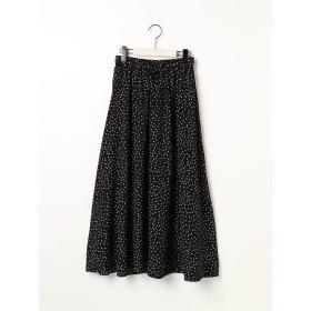 【6,000円(税込)以上のお買物で全国送料無料。】ドロスト柄ギャザースカート