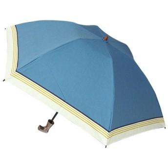 東急ハンズ hands+ 1級遮光 新簡単開閉折りたたみ傘 縄紐 50cm ブルーラインボーダー