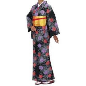 踊り衣裳【反物 柚印 手染小紋着尺】黒(赤・紫) 取り寄せ商品 「日本の踊り」掲載 踊り絵羽 稽古 習い事 舞踊