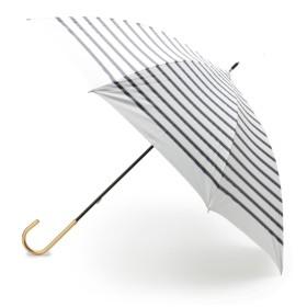 【10%OFF】 グローブ 晴雨兼用マリンボーダー長傘 レディース オフホワイト(303) 00 【grove】 【タイムセール開催中】