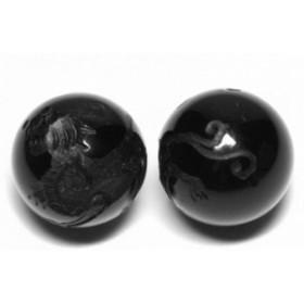 オニキス12mm 素彫り ヤアズ 【彫刻 一粒売りビーズ】