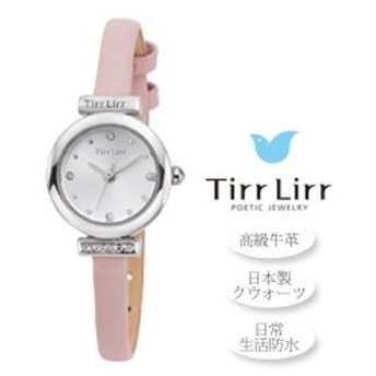 TirrLirr/ティルリル 本革レディースウォッチ【ピンク】■日本製クウォーツ■ティルリルジェリーウォッチ