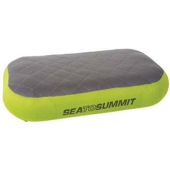 SEA TO SUMMIT シートゥーサミット エアロプレミアムピロー デラックス/ライム ST81032 グリーン 首枕 ネックピロー 家具 インテリア 布団 寝具