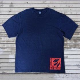 おサカナ魚デニム風Tシャツ メンズ(S M )